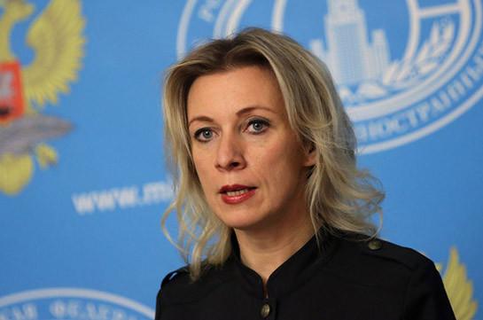 Захарова: Вероятность встречи глав МИД РФ, Армении и Азербайджана по Карабаху существует