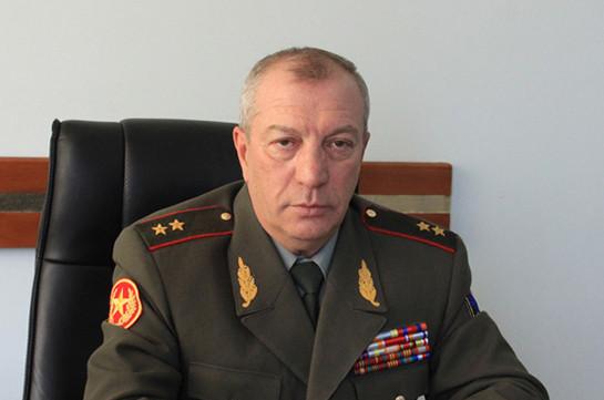 Энрико Априамов освобожден от должности первого заместителя начальника Генштаба ВС Армении