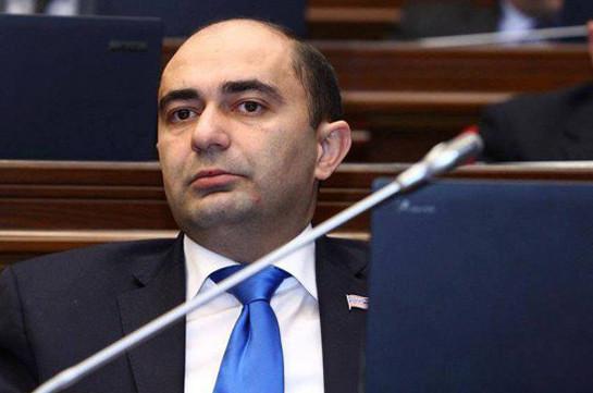 Эдмон Марукян: Фракция Блока «Выход» в парламенте Армении будет оппозиционной