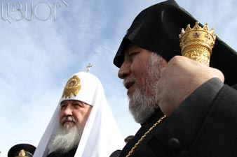 Patriarch Kirill consecrates Russian Church's foundation stone