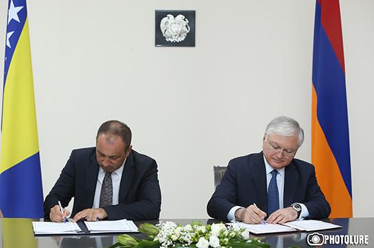 Армения и Босния и Герцеговина отменили визовый режим для владельцев дипломатических паспортов