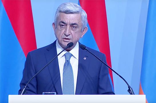 Серж Саргсян: Не может быть стабильного мира, пока руководство Азербайджана не смирится с международными принципами