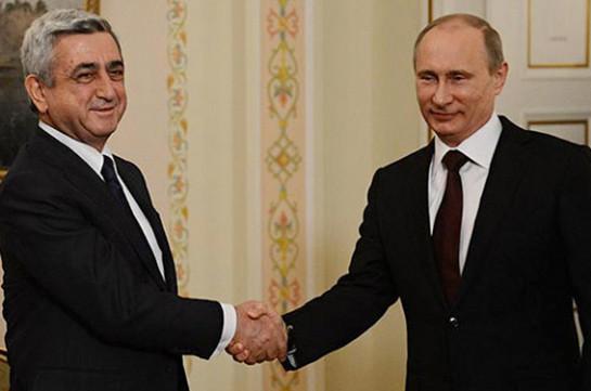 Պուտինը վստահ է, որ Հայաստանի հետ դաշնակցային հարաբերություններն էլ ավելի կամրապնդվեն