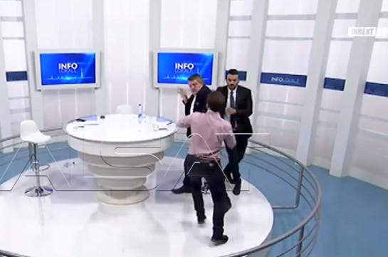 ВКосово народные избранники устроили брутальный мордобой впрямом эфире