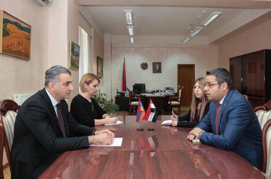 Посол Сирии предложил организовать очередное заседание армяно-сирийской межправительственной комиссии в Дамаске