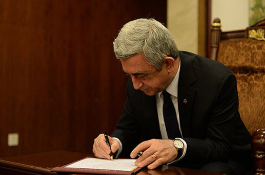 Серж Саргсян подписал соглашение об армяно-российской объединенной группировке войск