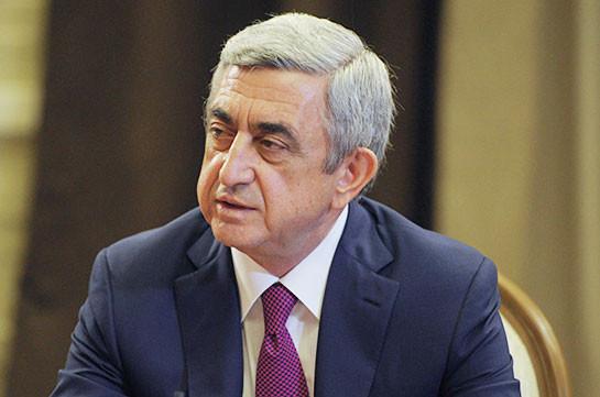 Серж Саргсян: Большой туристический поток из РФ в Армению обеспечивает развитие русского языка
