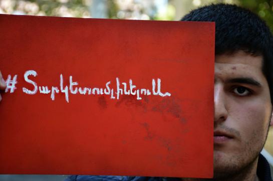 Протестующие против отмены отсрочки студенты представили предложения относительно проекта закона «О военной службе и статусе военнослужащего»