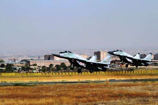 В Армении прошла тренировка сил и средств ВВС и ПВО ЮВО