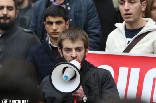 Мы не прекращаем голодовку просто идем на проспект Баграмяна – Давид Петросян