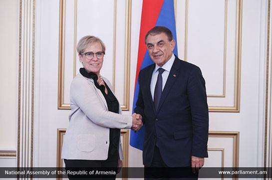 Спикер парламента Армении обсудил с главой БДИПЧ/ОБСЕ процесс конституционных реформ