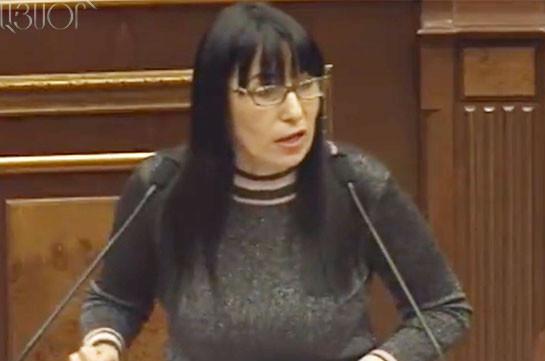 Наира Зограбян – членам правительства: Мы оказались в подобной ситуации из-за вашей бездарной политики