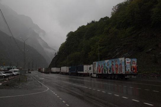 Ստեփանծմինդա-Լարս ավտոճանապարհը ծանրաքաշ մեքենաների համար փակ է
