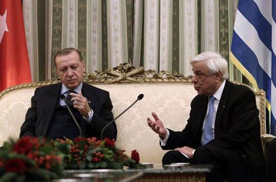 Эрдоган приехал в Грецию и потребовал пересмотреть границы