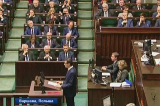 Сейм Польши утвердил новое правительство во главе с премьером Моравецким