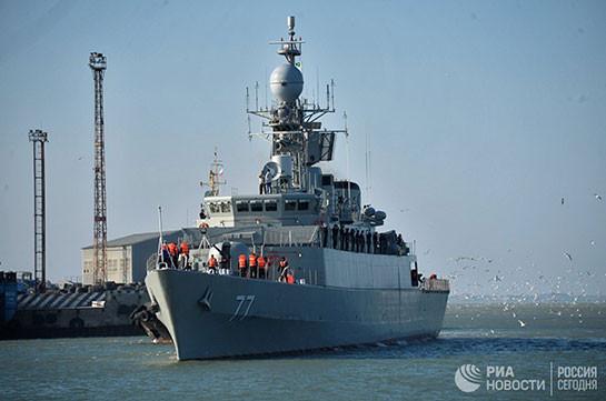 В Иране назвали причину аварии с эсминцем в Каспийском море