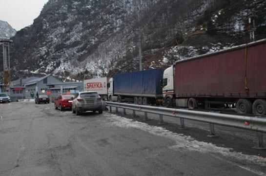 Լարսը բաց է միայն մարդատար ավտոմեքենաների համար. ռուսական կողմում կա կուտակված 150 բեռնատար