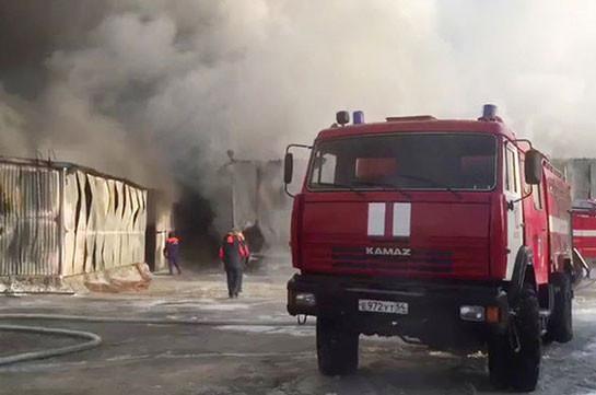 В Москве произошел пожар на рынке «Садовод»