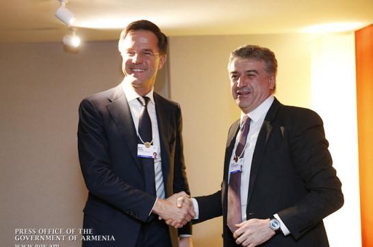 Премьер-министры Армении и Нидерландов договорились активно сотрудничать в сельскохозяйственной сфере