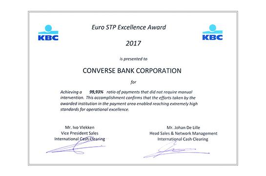 Կոնվերս Բանկը կրկին արժանացել է միջազգային մրցանակի
