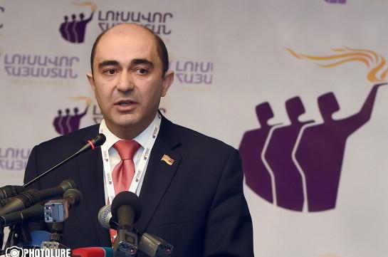Эдмон Марукян заявил о верности блоку «Елк»