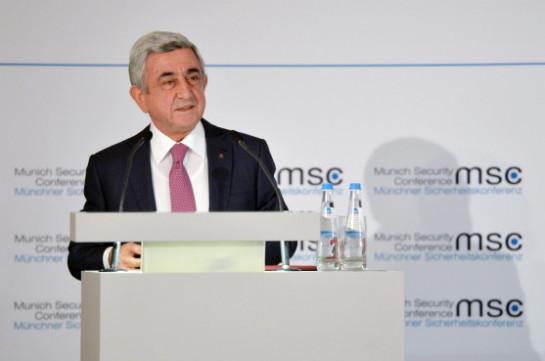 Սերժ Սարգսյան. Ես ատում եմ պատերազմը