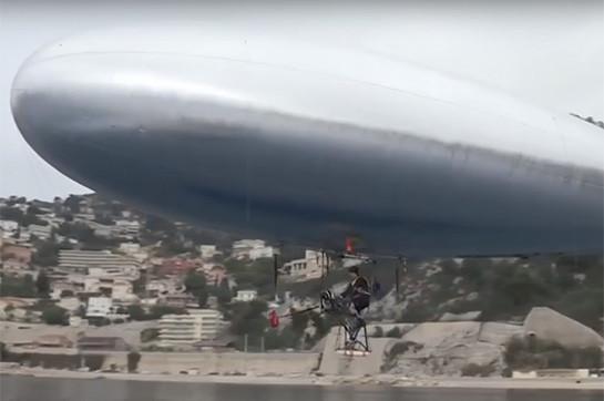 Ֆրանսիացին փորձարկել է ինքնաշեն դիրիժաբլը (Տեսանյութ)