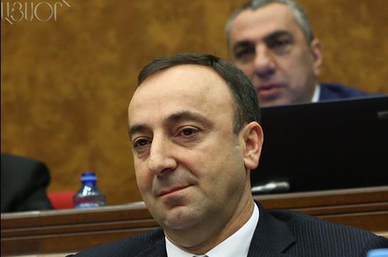 Հրայր Թովմասյանի թեկնածությունն առաջադրվել է Սահմանադրական դատարանի նախագահի պաշտոնում