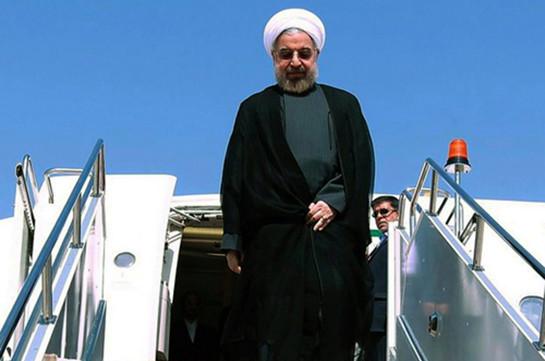 Президент Ирана прибыл с визитом в Азербайджан