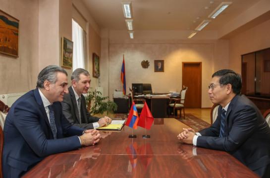 Министр: Повышение узнаваемости армянской сельскохозяйственной продукции на китайском рынке приведет к росту инвестиций