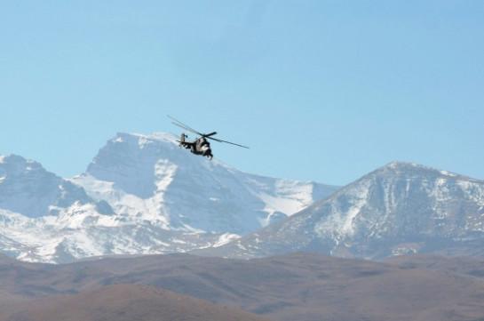 В Армении российские летчики армейской авиации провели разведку местности по приборам
