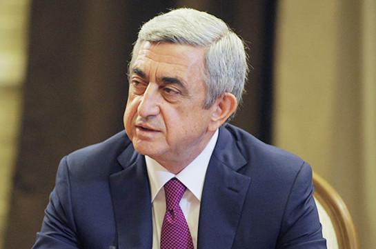 Серж Саргсян: Политика Армении по отношению к России не изменится