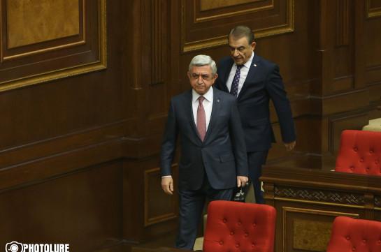Սերժ Սարգսյանը ժամանեց Ազգային ժողով. լուսանկարներ
