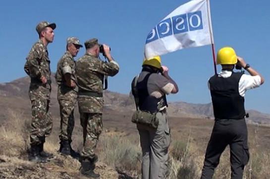Мониторинг миссии ОБСЕ на границе Арцаха и Азербайджана прошел без ЧП