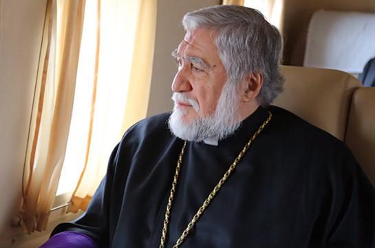 Киликийский Католикос Арам Первый посетит Армению в связи с акциями протеста в Ереване