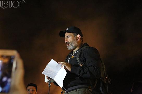 Սերժ Սարգսյանը չի տիրապետում ՀՀ-ում տիրող իրավիճակին, նրա իշխանությունը մահացած է. Նիկոլ Փաշինյան