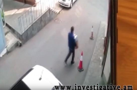 Կայանված ավտոմեքենայի սրահից գողություն է կատարվել (Տեսանյութ)