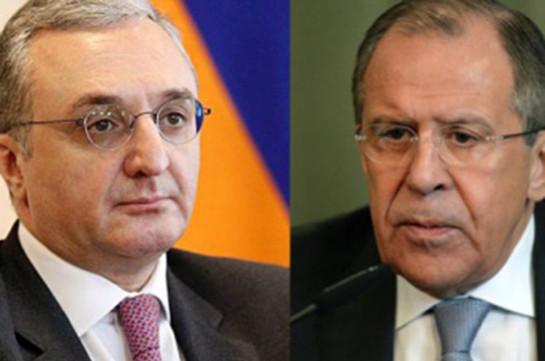 Глава МИД Армении пригласил Лаврова посетить Ереван