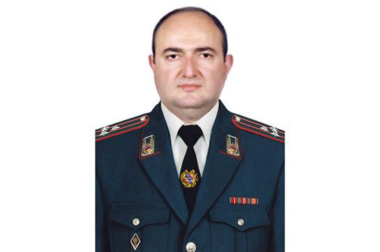 Вардан Мовсисян назначен замначальника полиции Армении