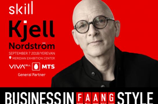 «Business in FAANG style». Կյել Նորդստրյոմը ելույթ կունենա հայաստանյան լսարանի առջև