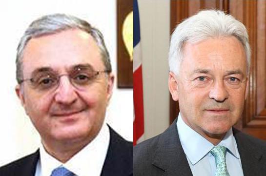 ՀՀ ԱԳ նախարարը հեռախոսազրույց է ունեցել Ալեն Դանքնի հետ՝ ներկայացնելով Հայաստանում տեղի ունեցած զարգացումները