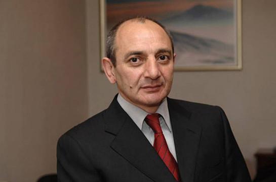 Бако Саакян направил телеграмму соболезнования родным Игоря Мурадяна