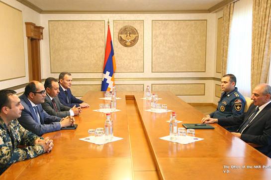 Бако Саакян принял министра по чрезвычайным ситуациямм Армении Грачью Ростомяна