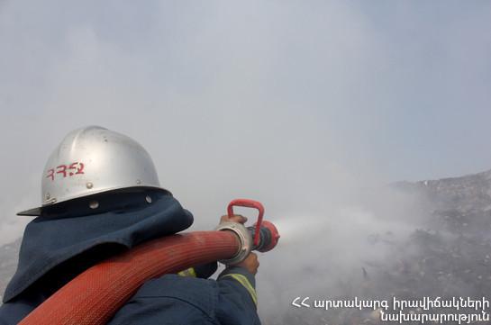 Վայոց Ձորում այրվել է 105 հա խոտածածկույթ. հրդեհաշիջմանը մասնակցել են 49 հրշեջ-փրկարար, 30 բնակիչ, 60 զինծառայող