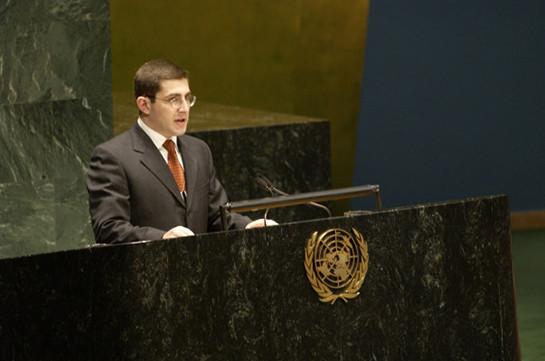 Մհեր Մարգարյանը նշանակվել է ՄԱԿ-ում ՀՀ ներկայացուցիչ
