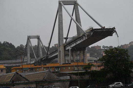Ջենովայում կամուրջի փլուզման հետևանքով 35 մարդ է մահացել