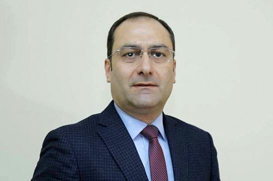 Артак Зейналян освобожден от должности главы Минюста Армении