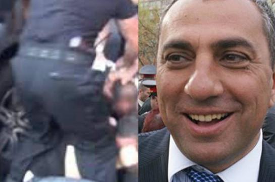 Ոստիկանները քիչ առաջ զինաթափել և բերման են ենթարկել Սամվել Ալեքսանյանի թիկնազորին