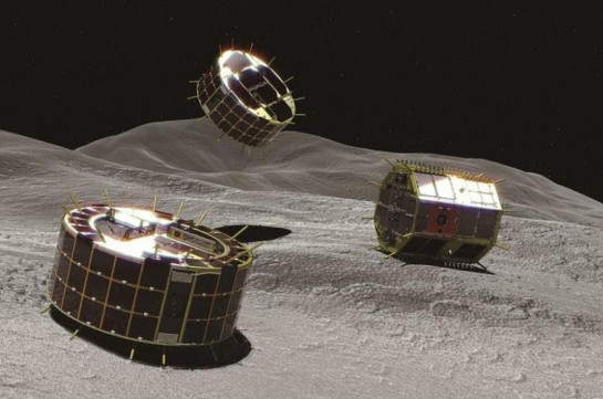 Japan's two hopping rovers successfully land on asteroid Ryugu