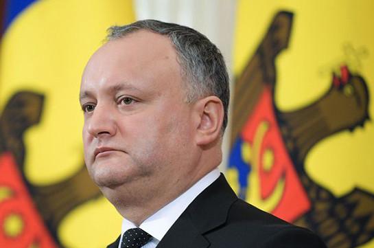 Президент Молдавии временно отстранен от должности
